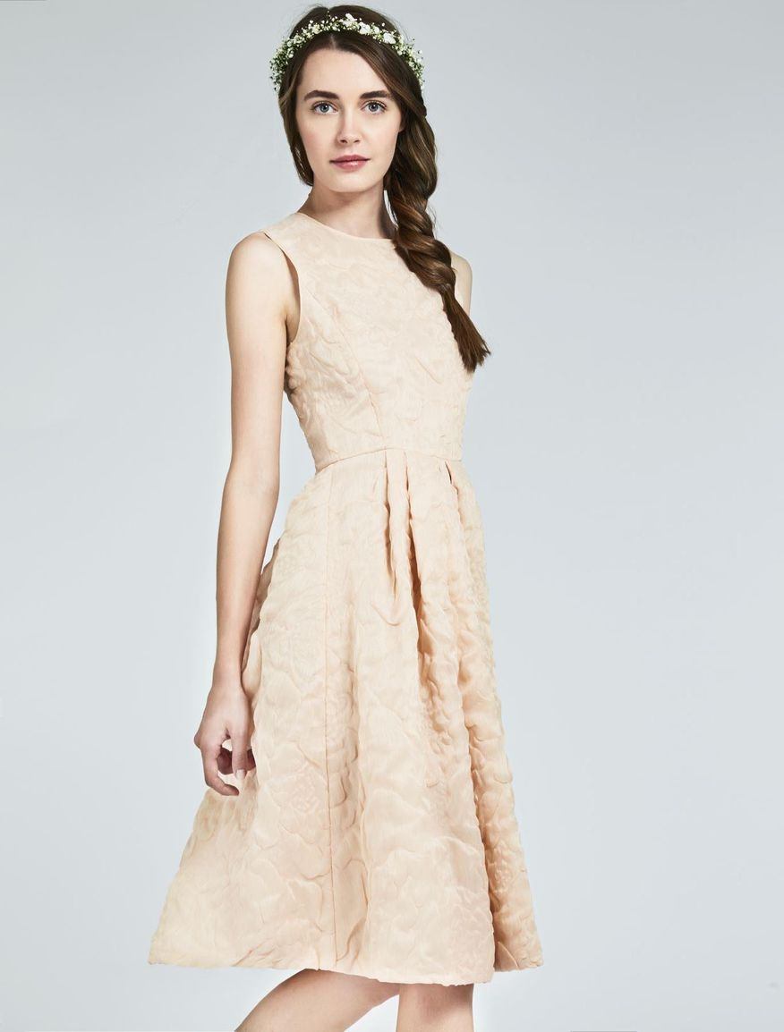 Silk and linen organza dress