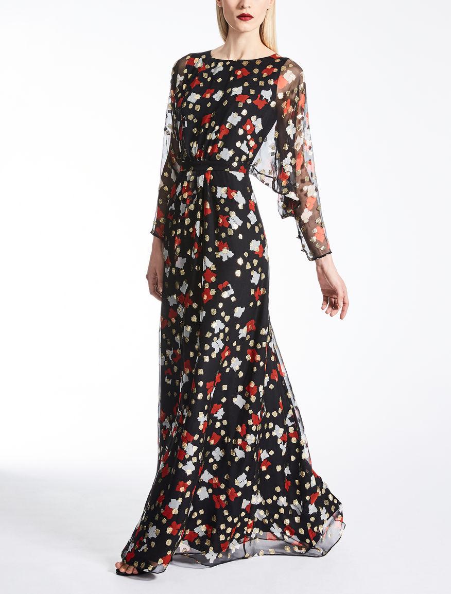 Silk creponne dress
