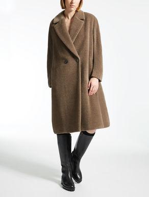 Manteau en alpaga et laine