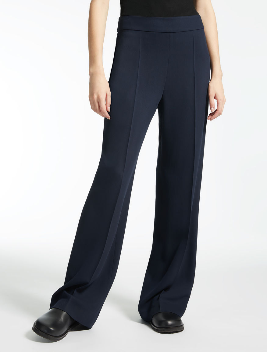 Wool, silk and viscose trousers