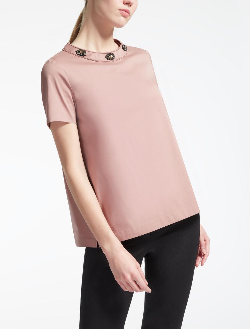 T-Shirt aus Baumwollpopeline