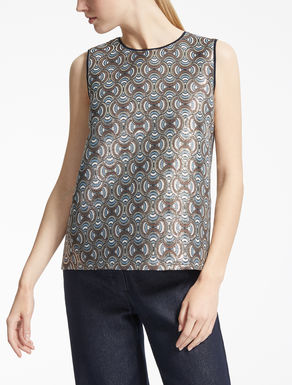 Top in jacquard