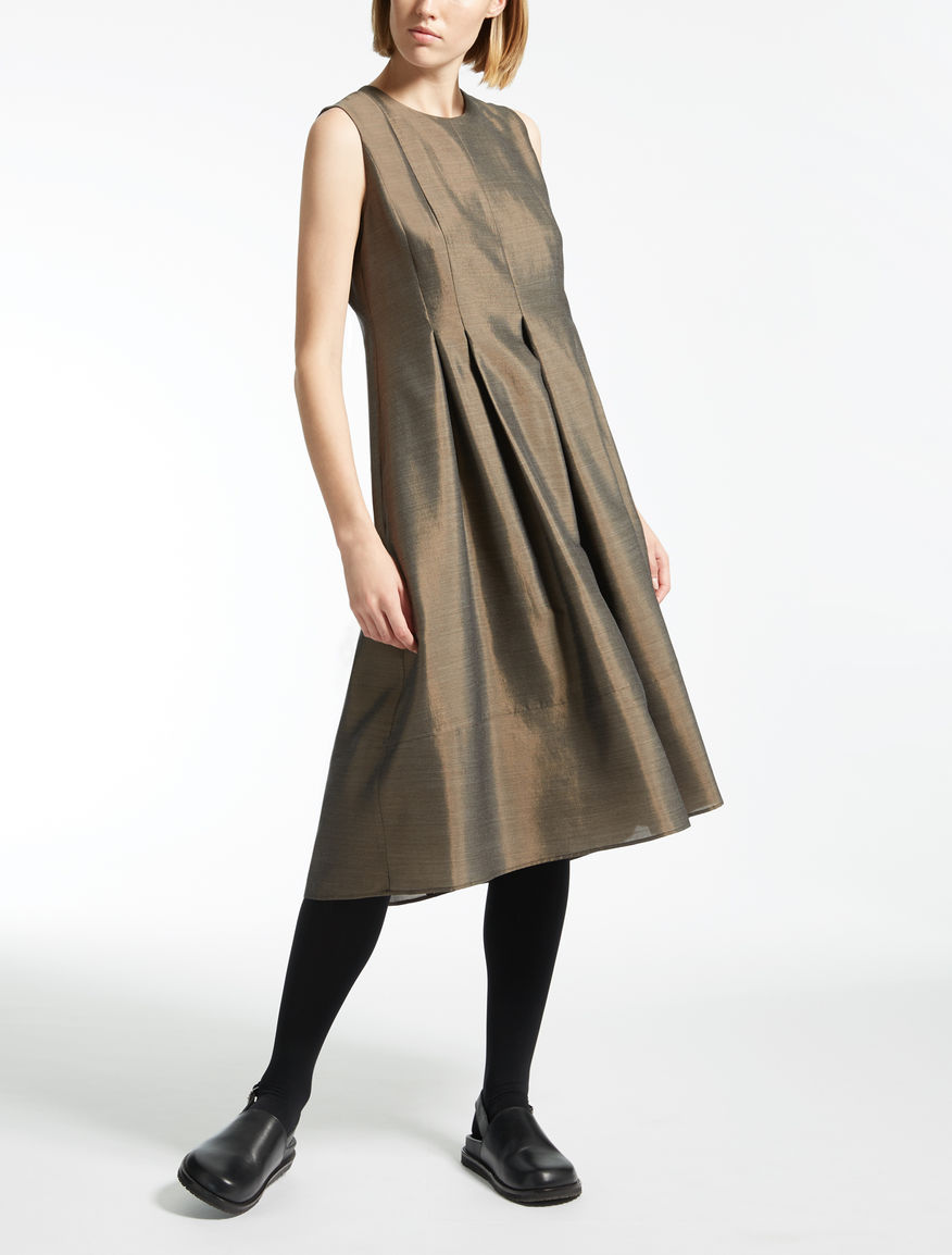 Silk, wool and viscose dress