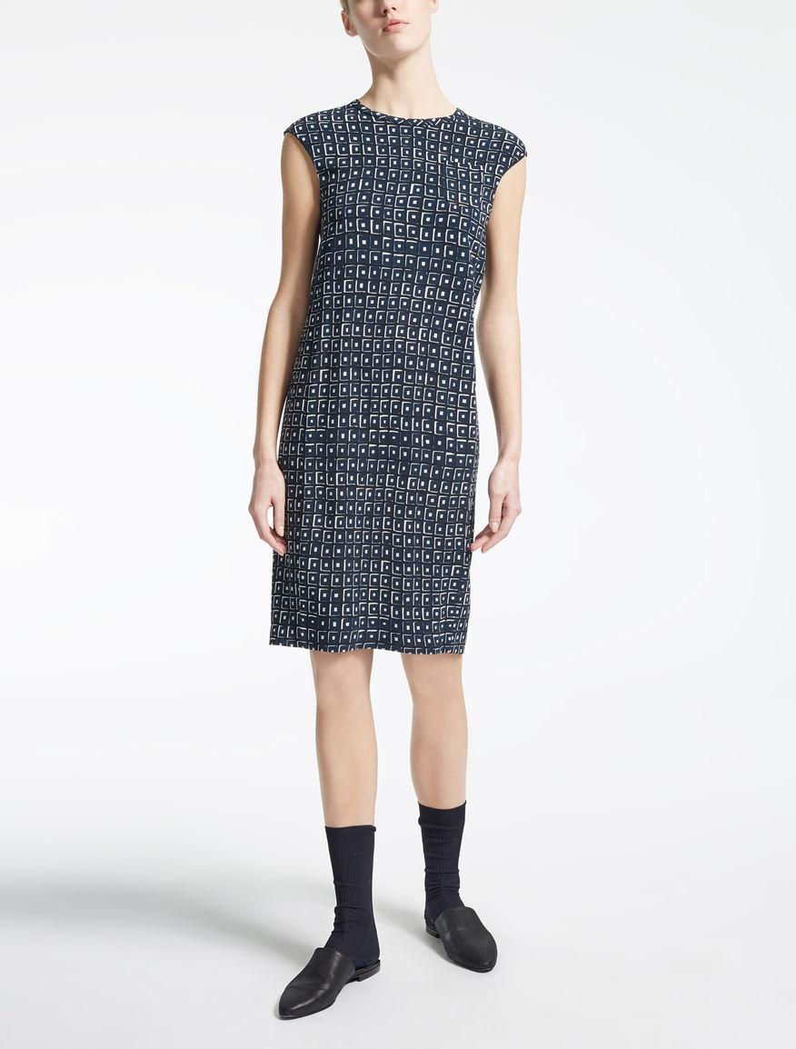ビスコース キャディプリント ドレス