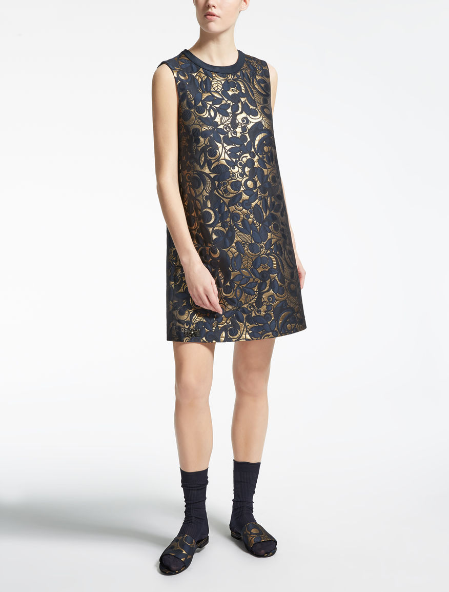 Jacquard fabric dress