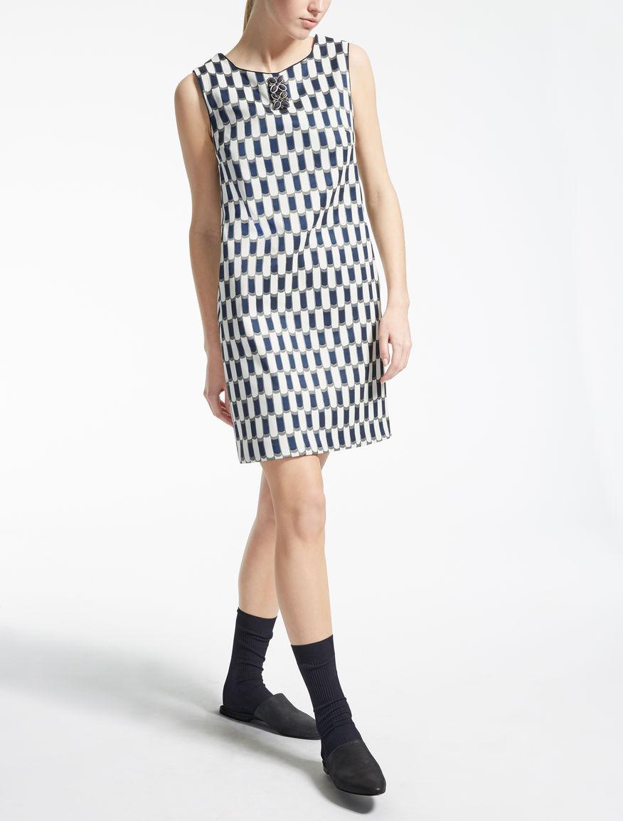 シリンダーモチーフスリーブレス ドレス