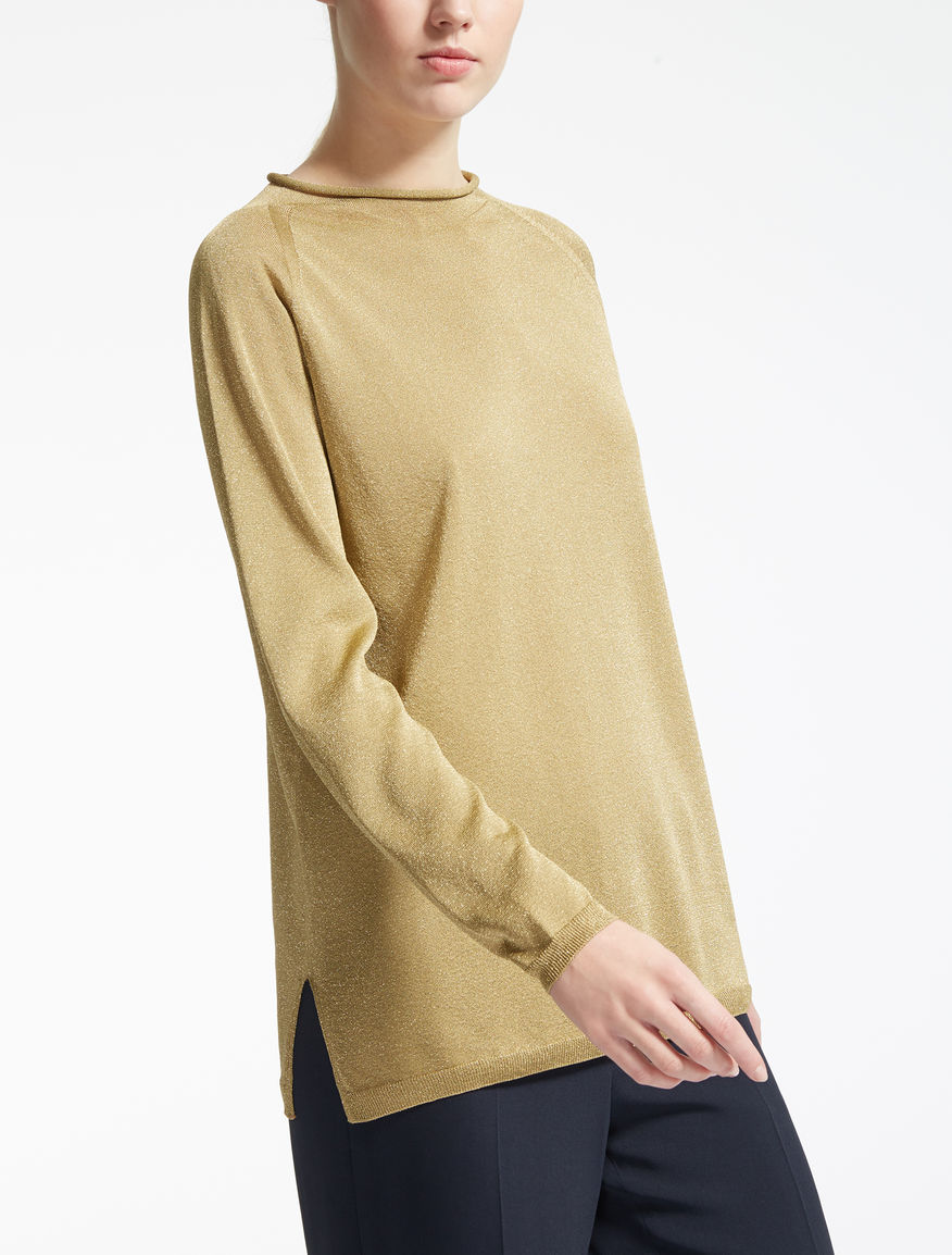 Viscose and lurex sweater