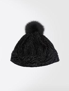 Cappello effetto astrakan
