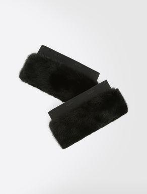 Mink cuffs