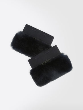 Rabbit fur cuffs
