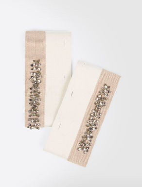 Embroidered fabric cuffs