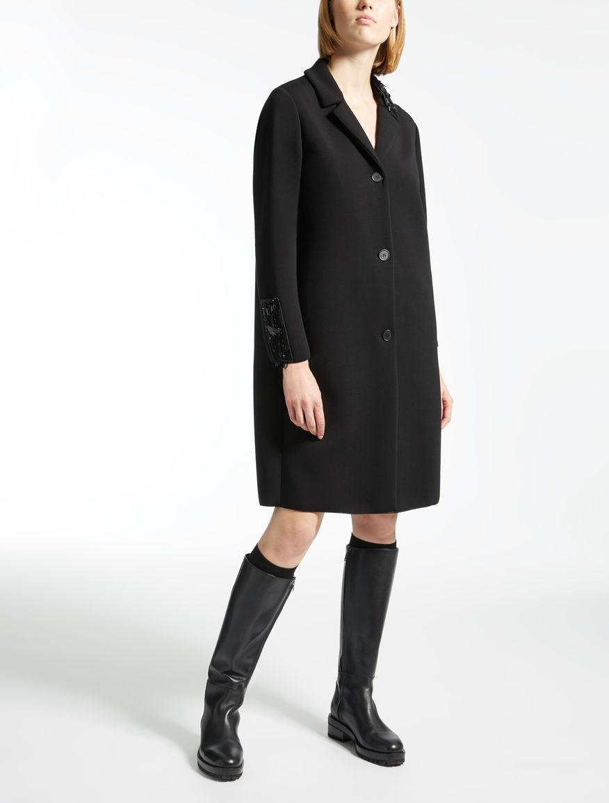 Manteau en jersey de viscose
