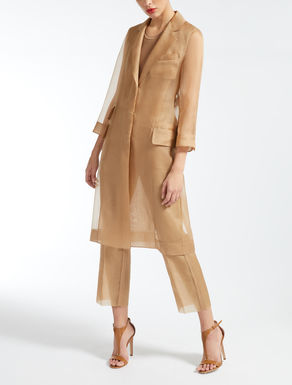 Silk organza coat