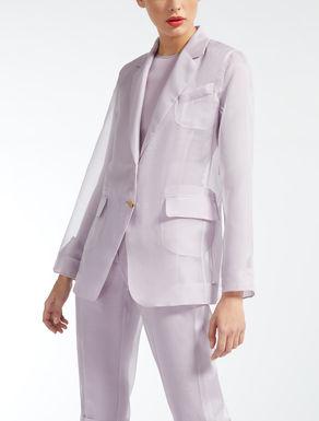 Silk organza blazer