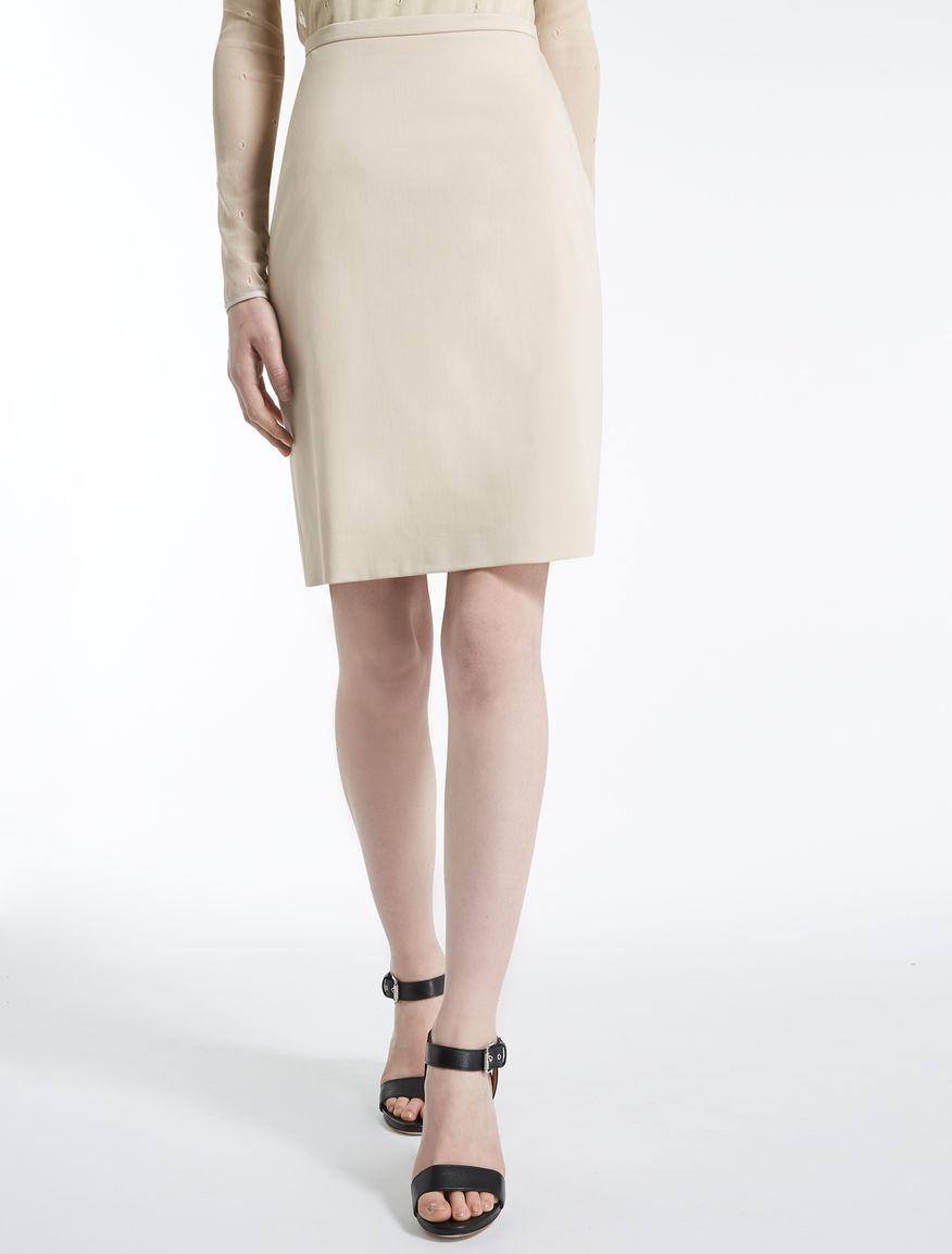 コットン サテンタイト スカート