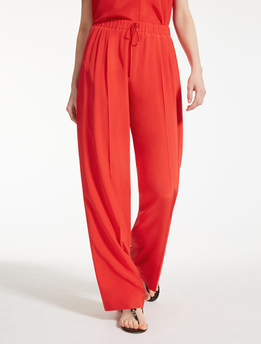Silk crêpe de chine trousers