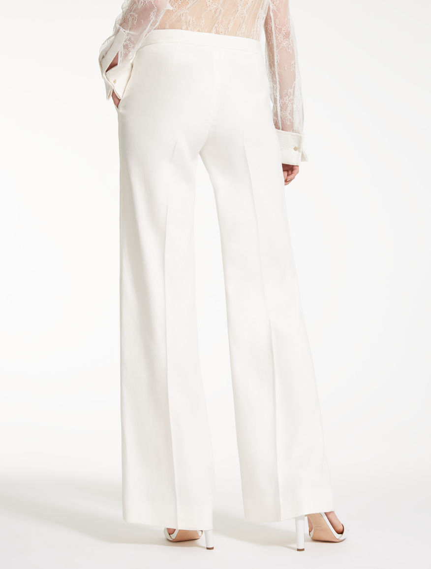 Gerry stretch linen-twill trousers Max Mara 5COUL
