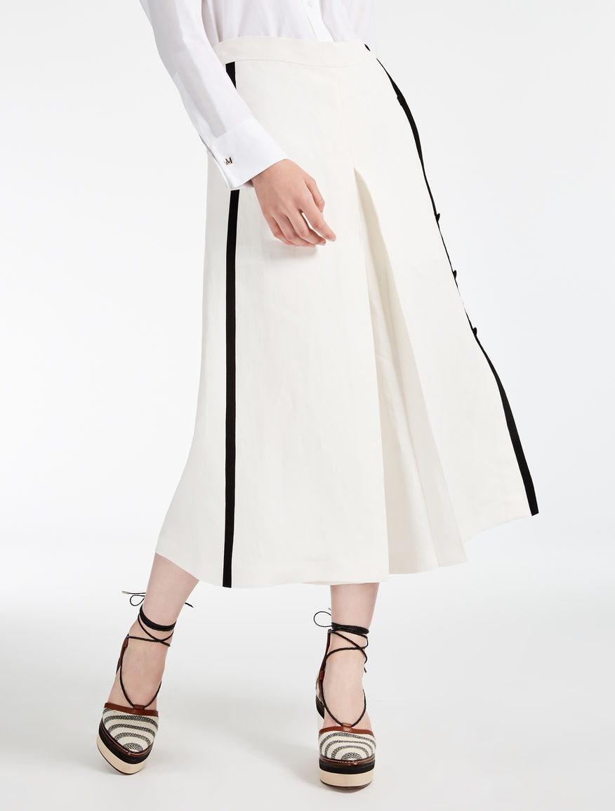 Linen and silk trousers