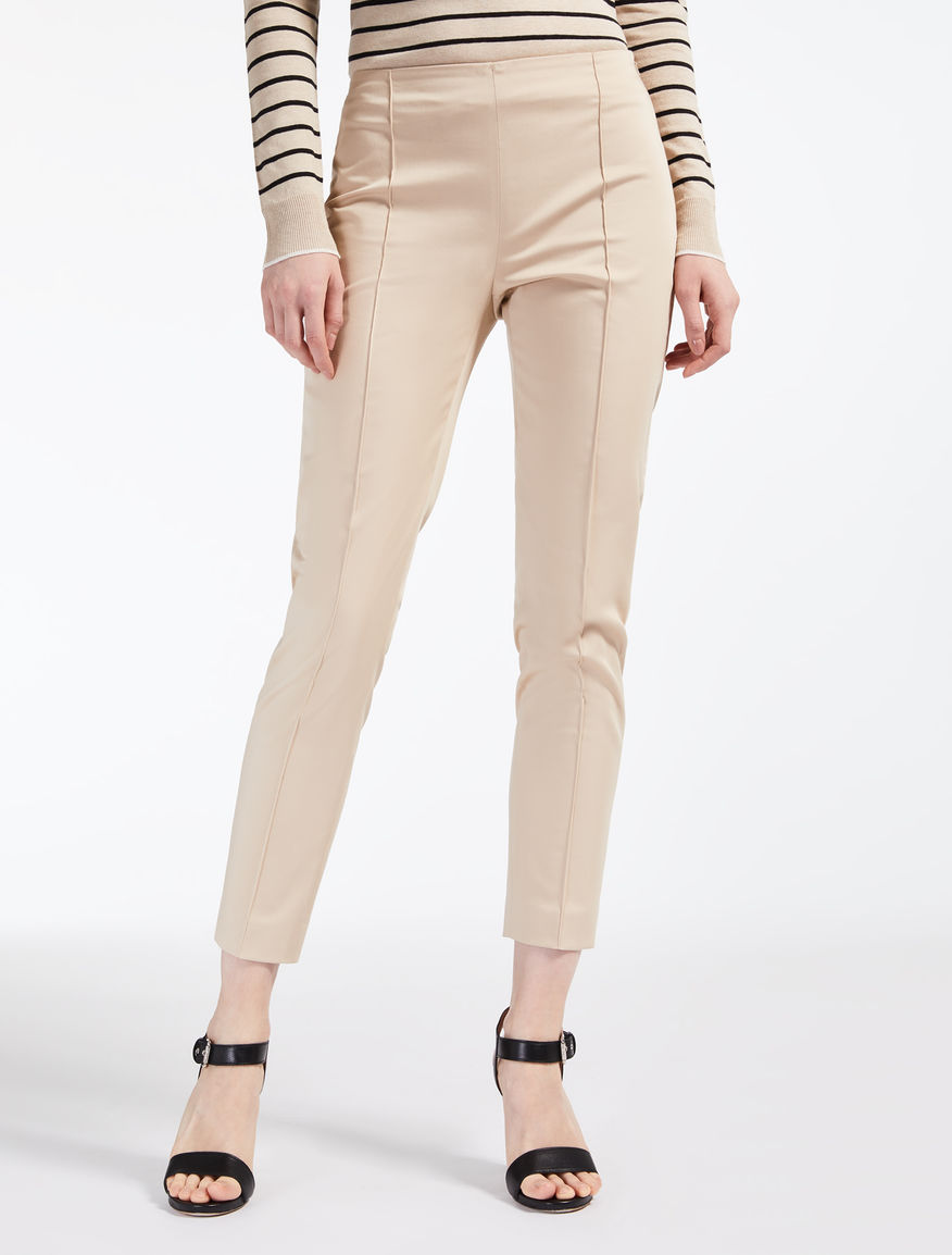 Cotton satin trousers