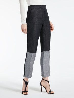 Linen satin trousers