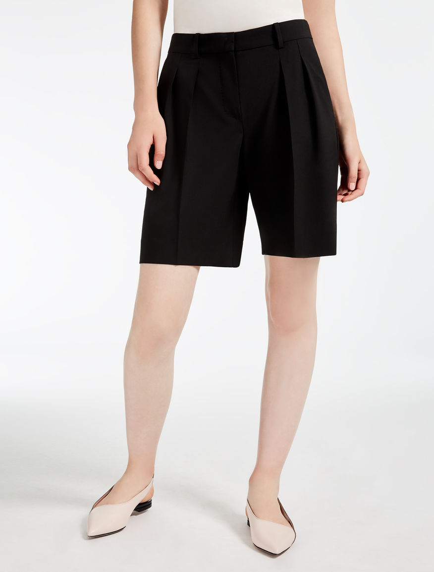 Wool cloth bermudas