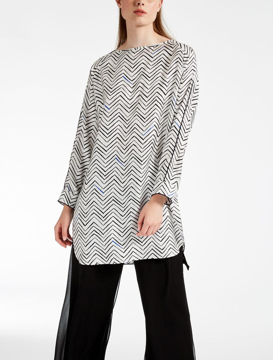 Silk twill tunic