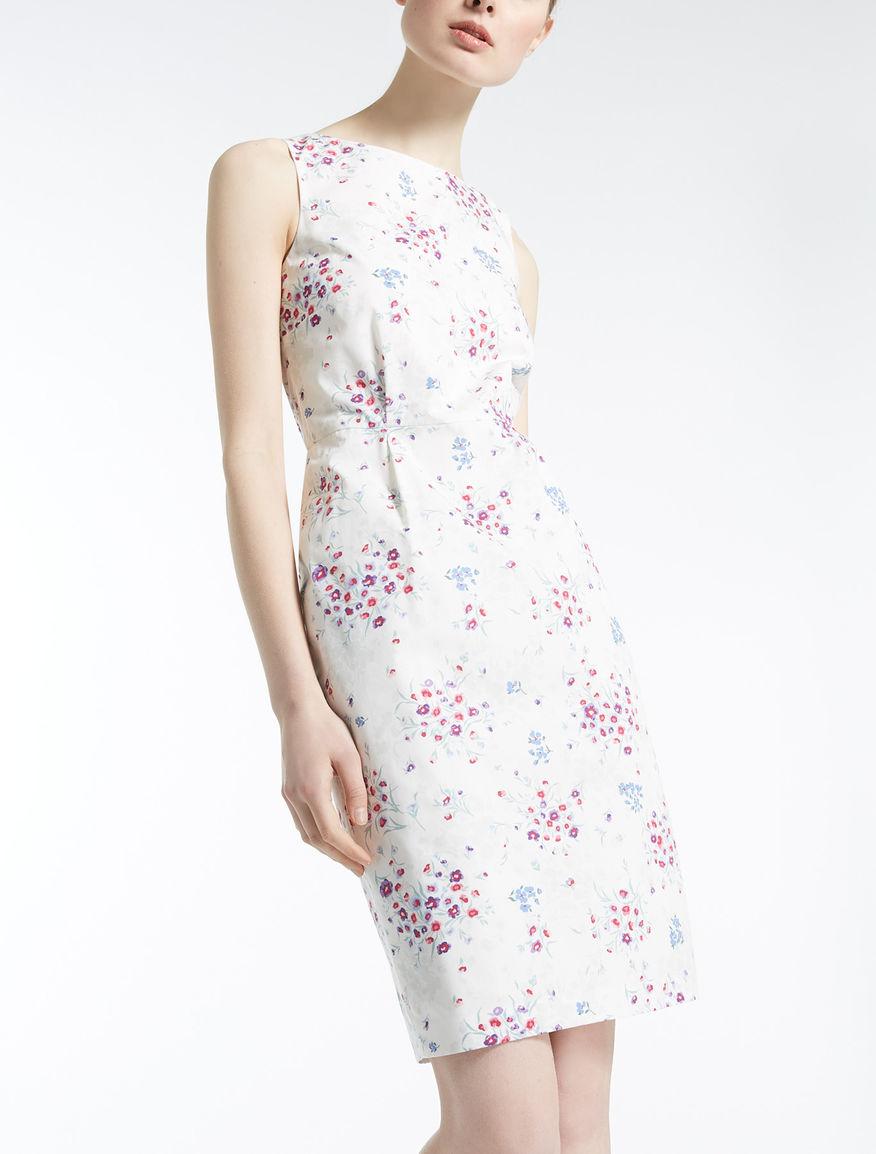 コットン ポプリンプリント ドレス