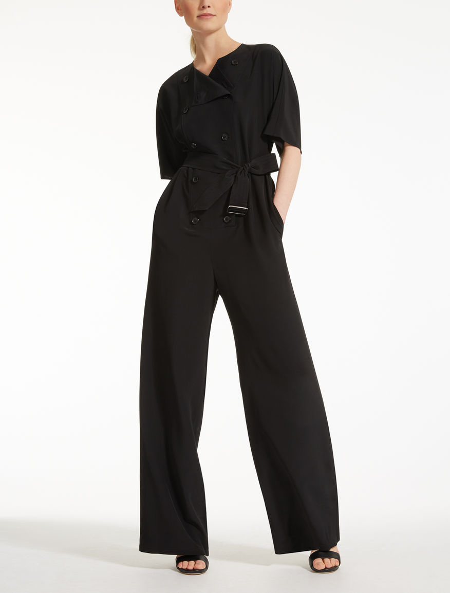 Silk crêpe de Chine jumpsuit