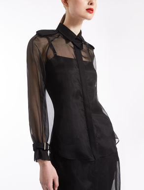 Silk organza shirt