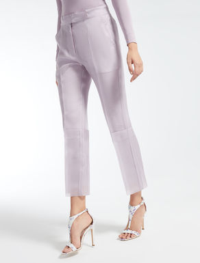 Silk organza trousers