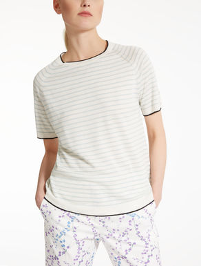 Silk and linen T-shirt