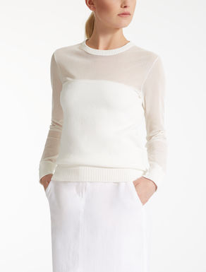 Cotton cordonnet sweater