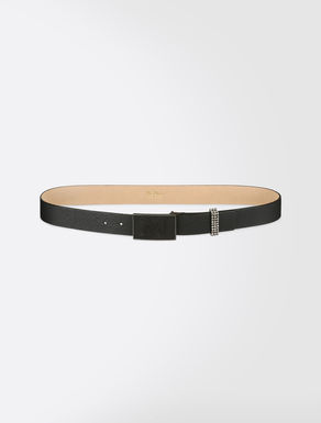 Leather and metal belt