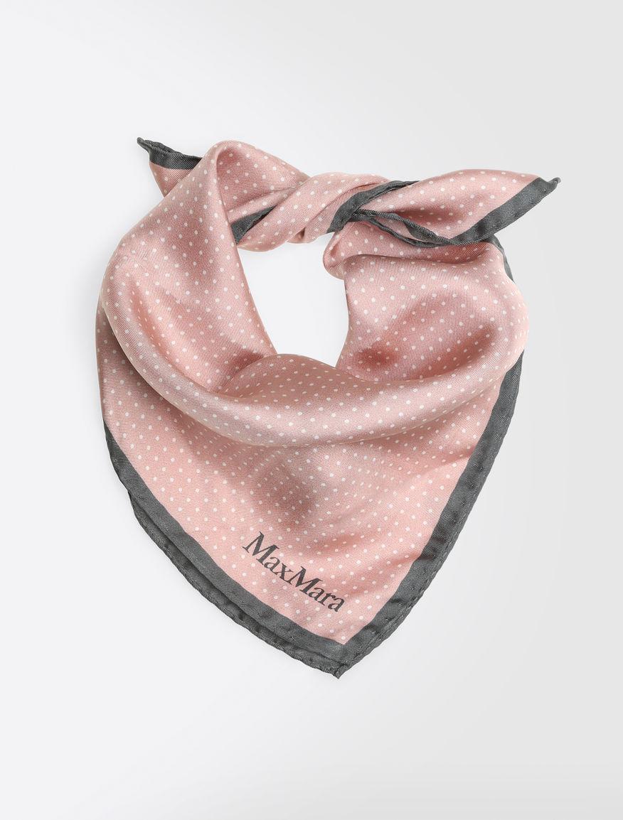 ピュア シルク ツイルプリント スカーフ