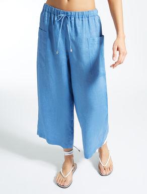 Pantalón de tela de lino