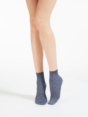 Cotton and lurex socks