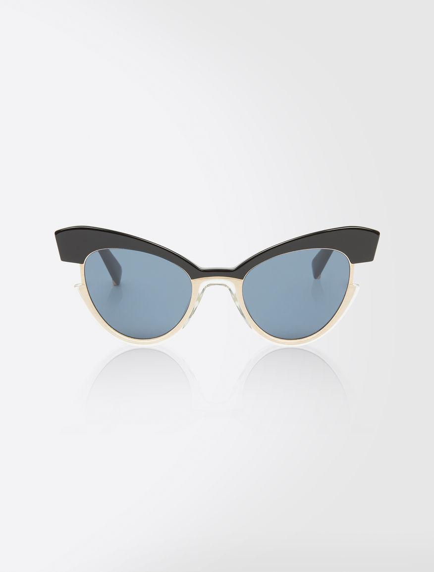 Cat-eye sunglasses, silver