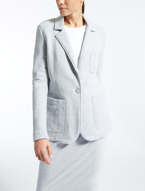 Cotton fleece blazer