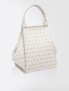 Printed leather maxi shopper bag
