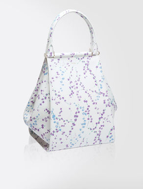 Printed leather maxi shopper bag
