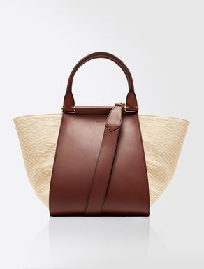 Leather and fabric shopper