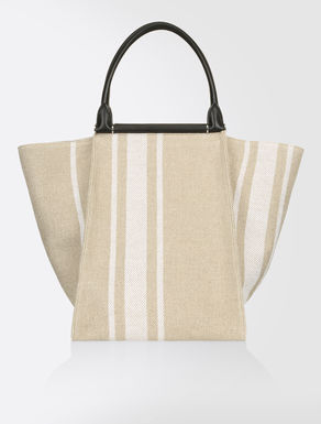 Linen and cotton maxi shopper
