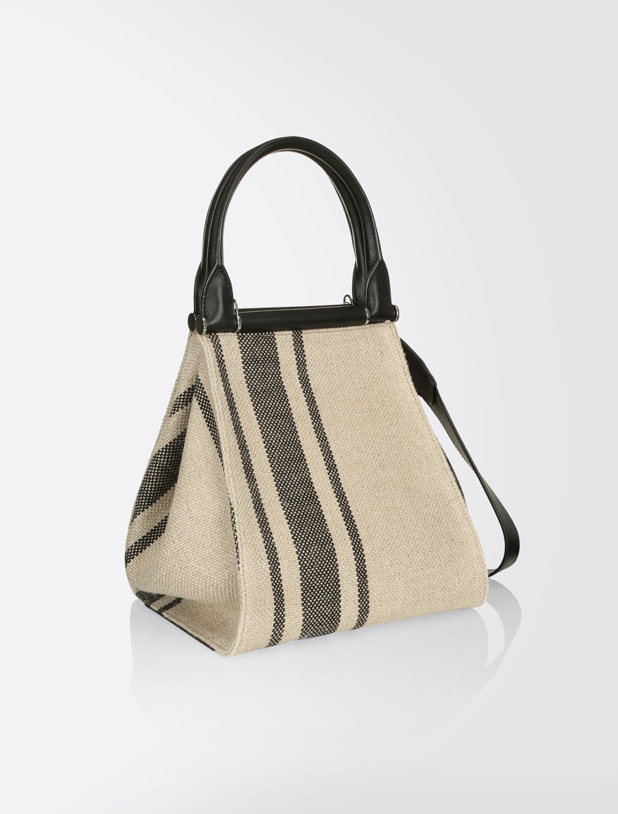 Linen and cotton shopper