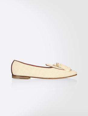 Loafer aus Stoff und Leder