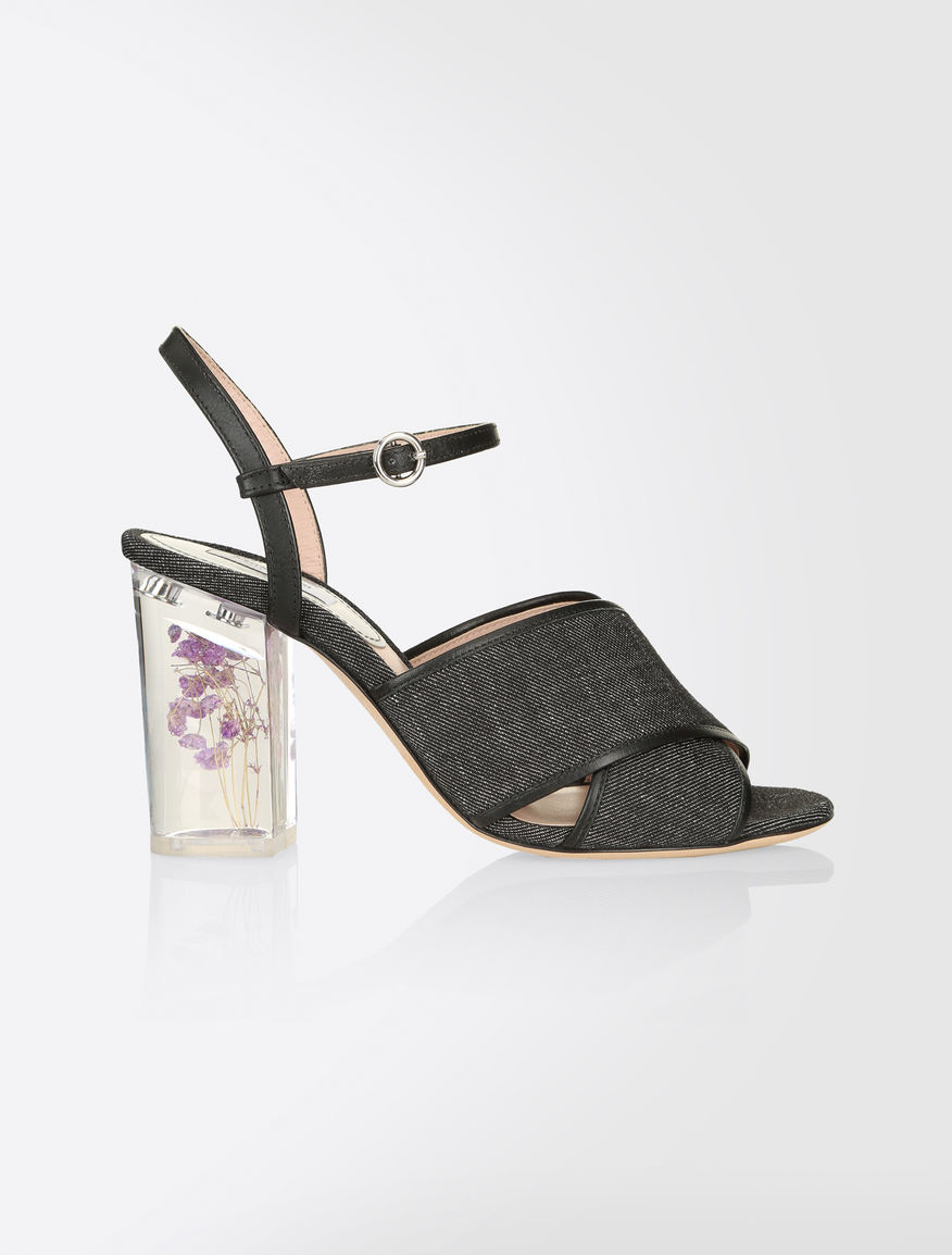 MaxMara Leather T-Strap Sandals with mastercard discount outlet quality free shipping low price factory outlet sale online QfSmLeUmCX