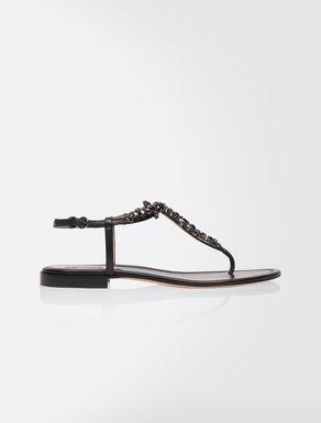 Nappa thong sandals