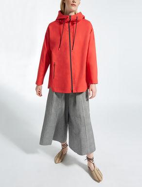 Nylon twill raincoat