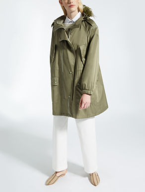 Cotton satin parka