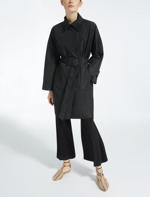 Nylon taffeta trench coat