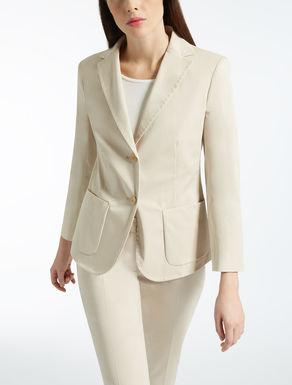Cotton gabardine blazer